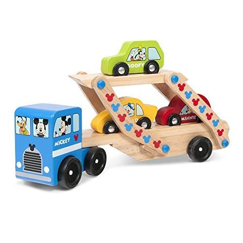 Melissa & Doug Mickey Wooden Car Carrier Set