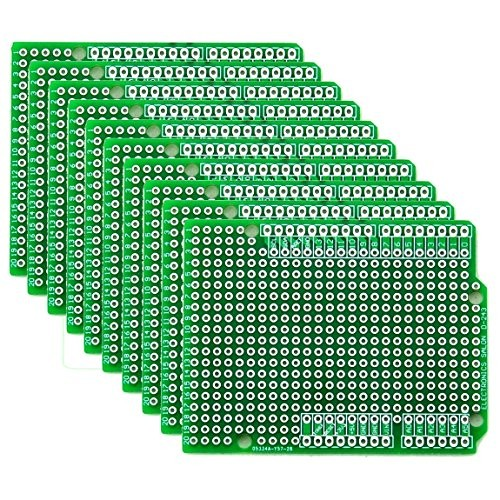 Electronics-Salon 10x Prototype PCB for Arduino UNO R3 Shield Board DIY by CZH-LABS