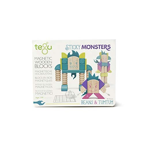 Tegu Beans & Tumtum Magnetic Wooden Block Set