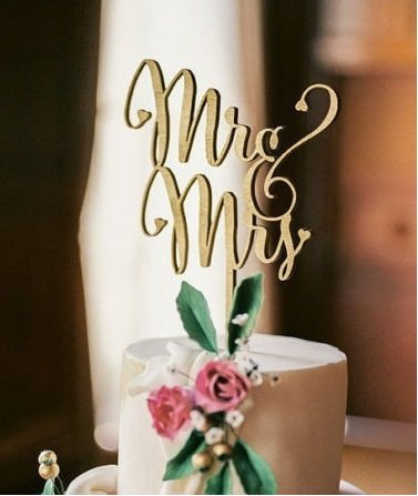 Mr and Mrs Cake Topper Laser Cut Wood Wedding For Choose Decorations Supplies