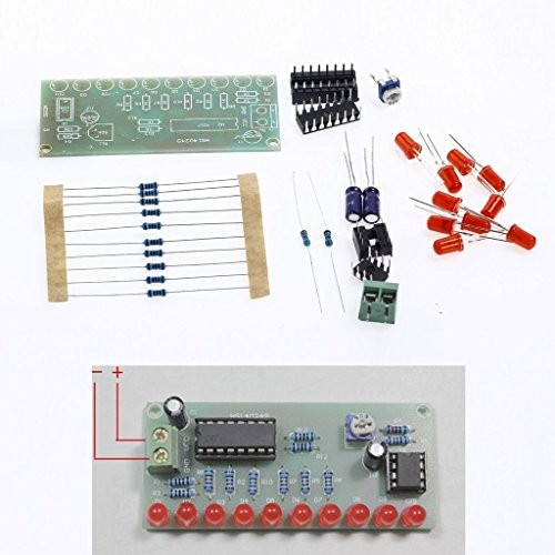NE555 + CD4017 Light Water Electronic Suite DIY Kits for Arduino Raspberry pi
