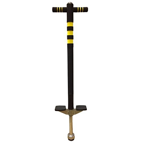 Bounce Soft Easy Grip Sport Pogo Stick for 5-9 Years Age Black and Yellow
