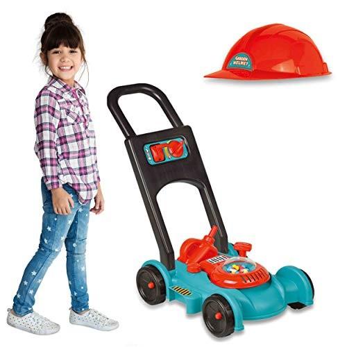 IQ Toys Lawn Mower Toy for Kids – Garden Gas Lawn Mower with Gardener