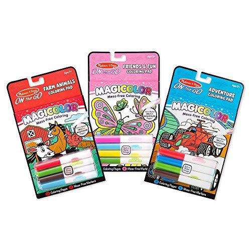 Melissa & Doug On the Go Magicolor Coloring Books Set – Farm Animals Friends and Fun Adventure