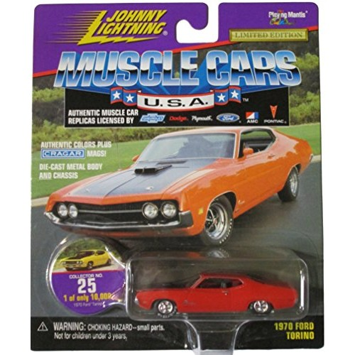 Johnny Lightning Muscle Cars USA – Burnt Orange 1970 Ford Torino – Collector No