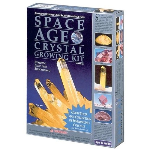 Space Age Crystal Growing Kit 6 Crystals Citrine and Topaz by Kristal Educational