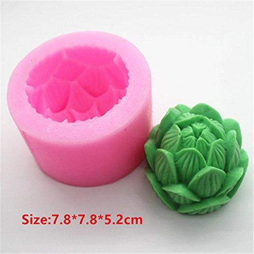 Bud Lotus Flower Silicone Cake Mould Fondant Sugar Soap Chocolate Decorate Tool
