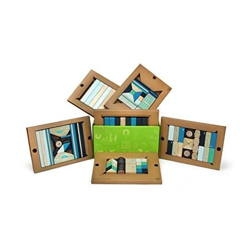 130 Piece Tegu Classroom Magnetic Wooden Block Set Future