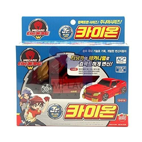 TURNING MECARD KAION Jr Red W Transforming Robot Car Toys