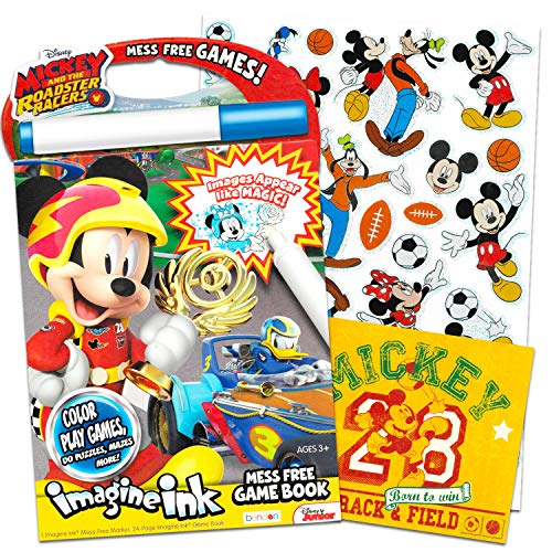 New Disney Mickey Mouse  Imagine Ink Activity Book Marker Mess Free Coloring