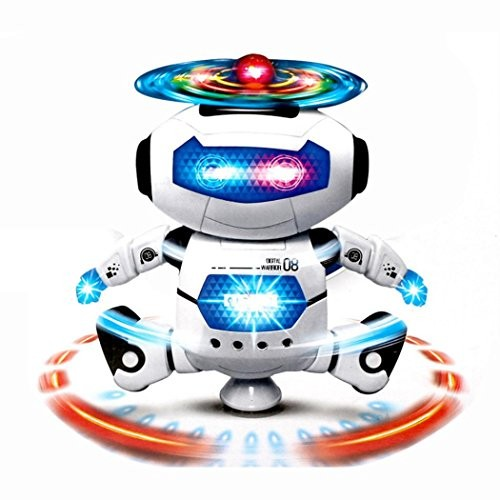 Robot Toys BeautyVan Electronic Walking Dancing Smart Space Music Light