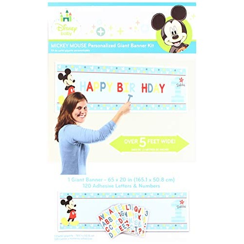 amscan Disney Mickey's Fun to be One Personalized Giant Banner Kit Birthday
