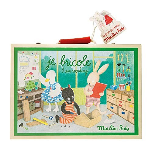 Moulin Roty I Am Working Wooden Tool Kit Set Je Bricole