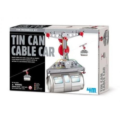 ScienceLAB 4M Mechanics Kit – Tin Can Cable Car