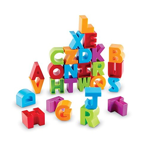 Learning Resources Letter Blocks Fine Motor Toy ABCs Recognition 36 Pieces Ages 18 mos+