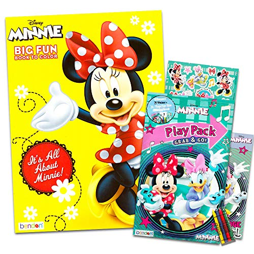 - Minnie Mouse Coloring And Activity Book Set - 1 Jumbo 25 Stickers 4 Crayons  Bonus Mini - Educational Toys Planet