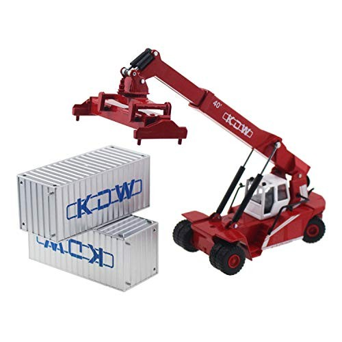 Tipmant Children Kids Alloy Die-cast Model Toy Container Reach Stacker Truck Vehicle Miniature Car
