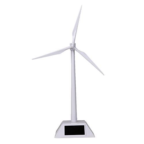Alloet Desktop Wind Turbine Model Solar Powered Windmills ABS Plastics White for Education or Fun