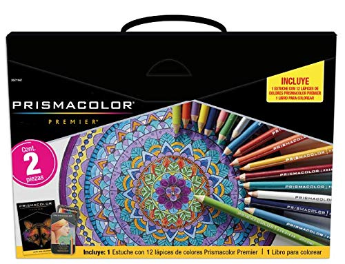 Prismacolor Premier Coloring Kit with Colored Pencils Art Markers and Adult Book 22 Pieces