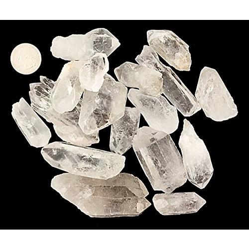 goldnuggetminer 1 Pound of Natural Brazilian Quartz Crystal Points – Healing Reiki Wholesale