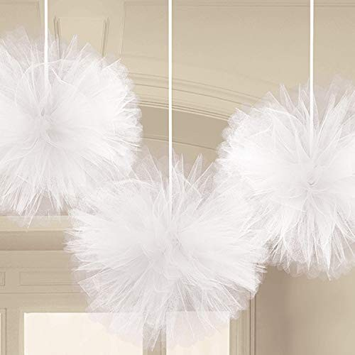 Tulle Fluffy Decorations – White