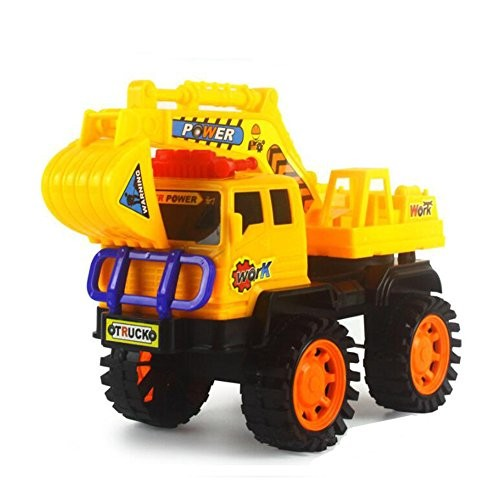 NOQ Inertia Engineering Vehicle Excavator Beach Toys ABS Environmental Protection Material