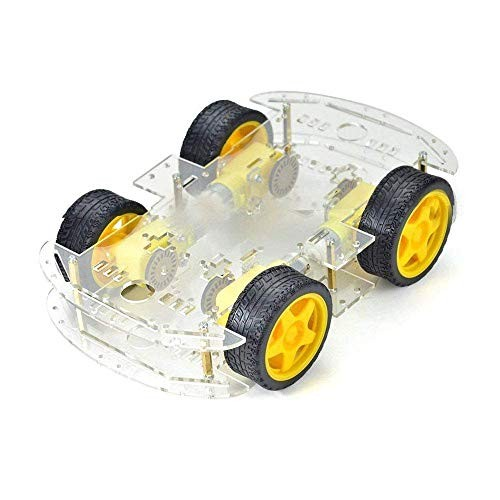 Diymore 4WD Wheels Smart Car Robot Chassis DIY Kits Model with Speed Encoder for Arduino Kids Teens Toys