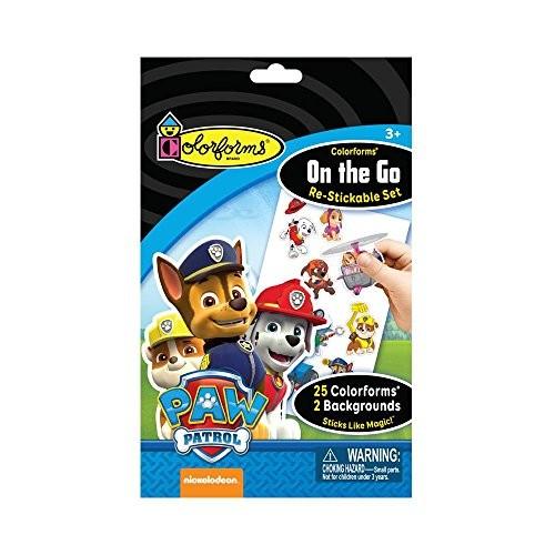 Colorforms On-The-Go Re-Stickable Sticker Set – Paw Patrol