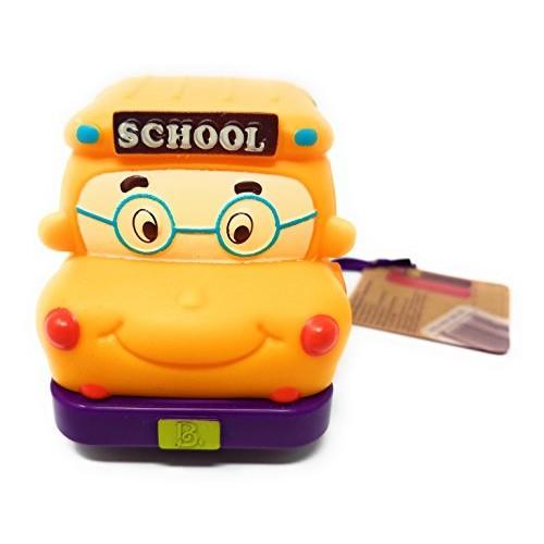 Battat ~ Pull Back Car Mini Wheeee-ls! ~ Yellow Bus Gus