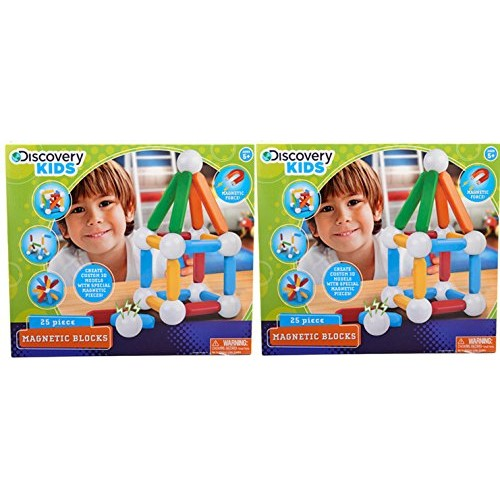 Discovery Kids 25 Piece Magnetic Blocks 2-pack