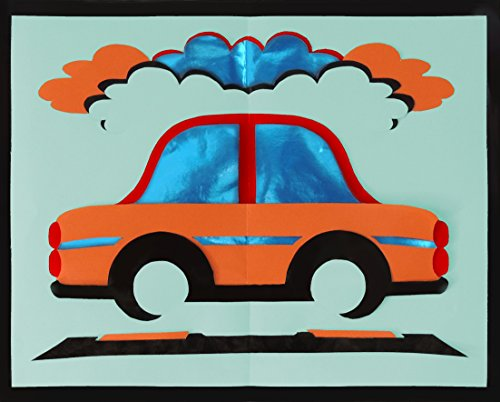 CRAFTWORx DIY PAPER CRAFT KIT YOUTH CAR Style # 45101 5 COLORS 8×10 INCHES AGES 9 & Up