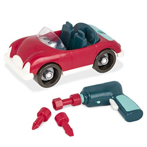 Battat  Take-Apart Roadster  Colorful Take-Apart Toy Car with Working Toy Drill for
