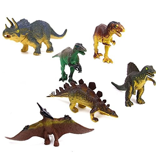 WINOMO 6pcs Dinosaurs Tyrannosaurus Stegosaurus Triceratops Utahraptor Pterosaur Spinosaurus Educational Toy