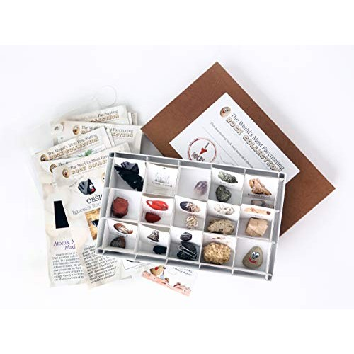 The World's Most Fascinating Rock Collection Fun and Educational Read Activity Based Mineral Kit Boxed Set