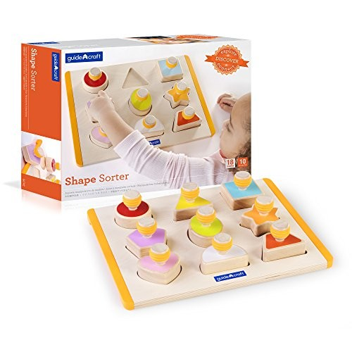 Guidecraft Shape Sorter – Educational and Learning Toys For Kids Puzzle Board