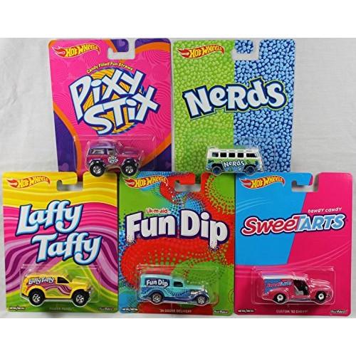 Hot Wheels Pop Culture Candy Cars Bundle of 5 Vehicles