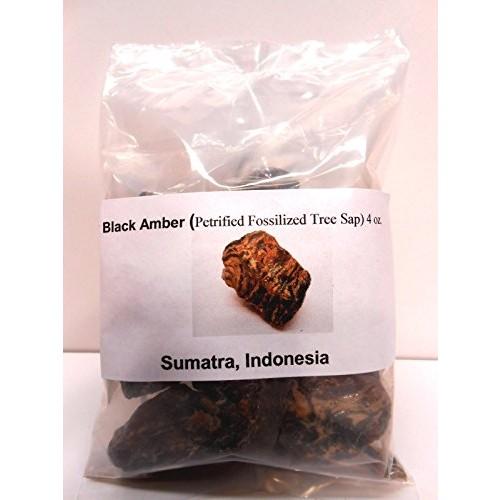 Black Amber-Genuine Petrified fossilized Tree sap from Sumatra Indonesia 4 oz