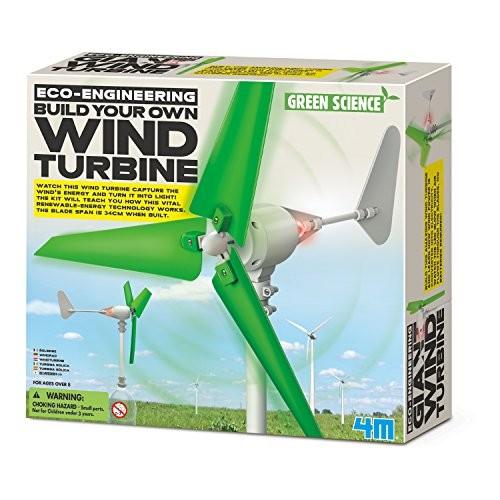 4M Wind Turbine Science Kit Green