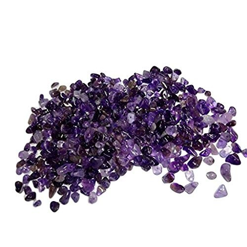 Sublime Gifts Amethyst Chips 2 Ounce Package of Premium Small Tumbled Gemstone Crystal Healing