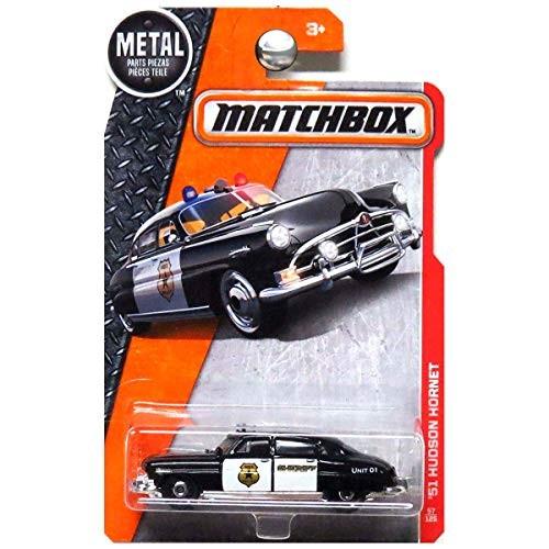Matchbox 2016 MBX Heroic Rescue '51 Hudson Hornet (Police Car) 57/125 Black