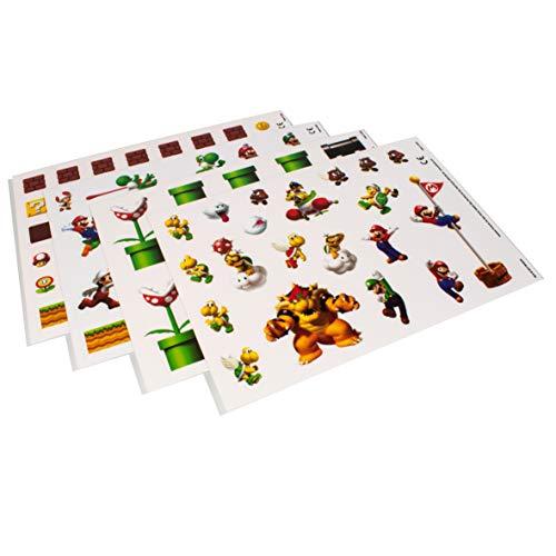 Paladone Super Mario Bros Gadget Decals – Vinyl Sticker Clings 4 Sheets