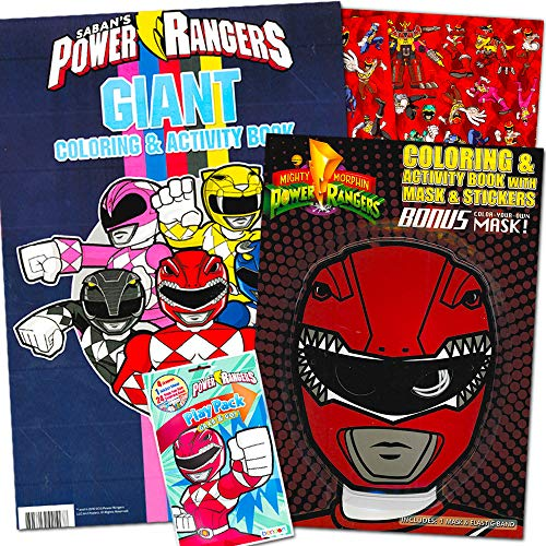 Power Rangers Coloring Book Super Set -- 2 And Activity Books Over 50  Stickers - Educational Toys Planet
