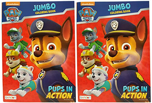 Bendon Set of 2 Nickelodeon Paw Patrol Pups in Action Jumbo Coloring Book Tear and Share Pages – Activity Book Perfect for Any Fan Measures 1075inx25inx775in