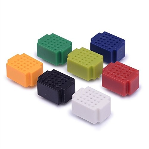 Honbay 7pcs Colorful 25 Tie Points Mini Solderless Bread Board PCB Circuit