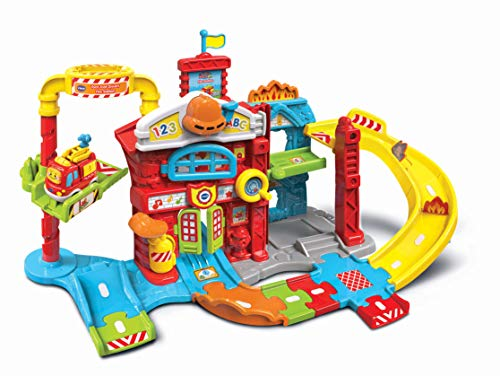 VTech Toddler Interactive and Educational Toy for Children with Music Light Kids 503903 Toot Drivers Refresh Fire Station Multicolour