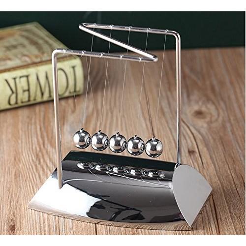 URToys Z Shaped Newtons Cradle Steel Balance Pendulum Ball Physics Science Fun Desk Toy Educational Teaching Toys Christmas Present for Children