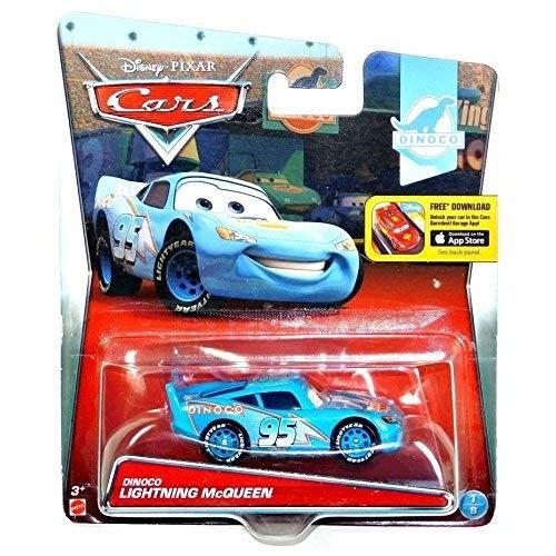 Disney Cars Pixar Dinoco Lightning Mcqueen 1:55 Scale Diecast #1 of 8 With App