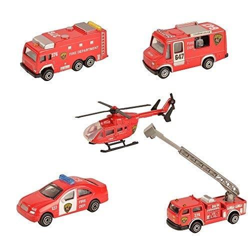 BOHS Fire Emergency Race and Rescue Vehicles – Mini Die-cast Metal Miniature Model –