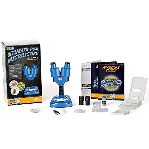 Discover with Dr Cool Science Lab Over 50 Accessories Dual Microscope