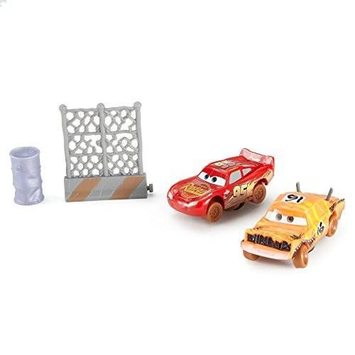 Disney Pixar Cars 3 Crazy 8 Crashers Pushover & Lightning McQueen Vehicle 2 Pack